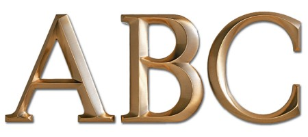 Image of our Architectural font Cast Metal Letter