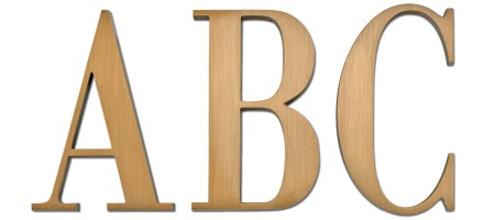 Image of our Bodoni Condensed font Cast Metal Letter
