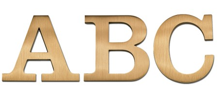 Image of our Clarendon Medium font Cast Metal Letter