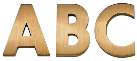 Image of our Futura font Cast Metal Letter