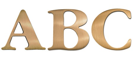 Image of our Garamond Bold font Cast Metal Letter