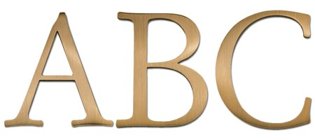 Image of our Garamond Regular font Cast Metal Letter