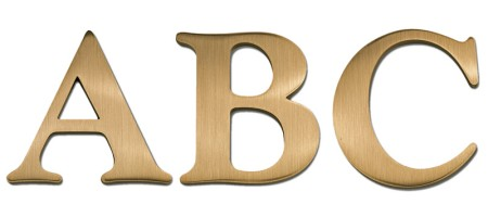 Image of our Goudy Extra Bold font Cast Metal Letter