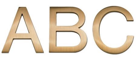 Image of Gemini cast metal letter in HELVETICA LIGHT font style.