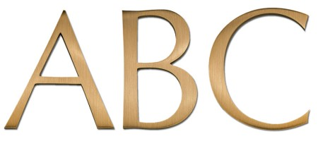 Image of Gemini cast metal letter in OPTIMA font style.
