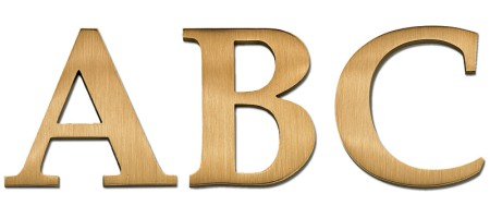 Image of our Palatino Semibold Cast Metal Letter