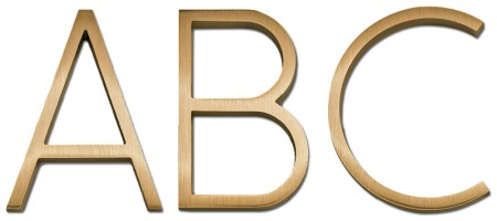 Image of Gemini cast metal letter in RIBBON font style.