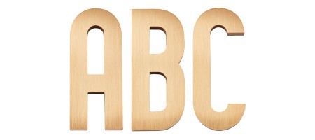 Image of our Timeless Geometric font Cast Metal Letter
