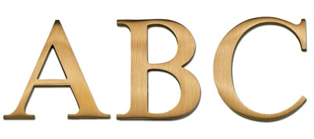 Image of our Times New Roman font Cast Metal Letter