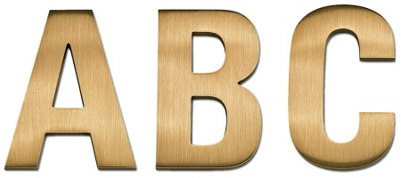 Image of our Univers 67 font Cast Metal Letter