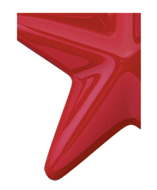 Image of Gemini formed plastic letter using Number 1875 Brick Red CAB Renewal Plastic.