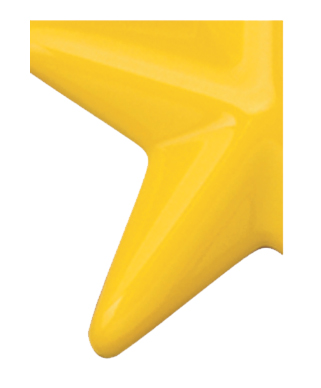 Image of Gemini formed plastic letter using Number 2000 Yellow CAB Renewal Plastic.