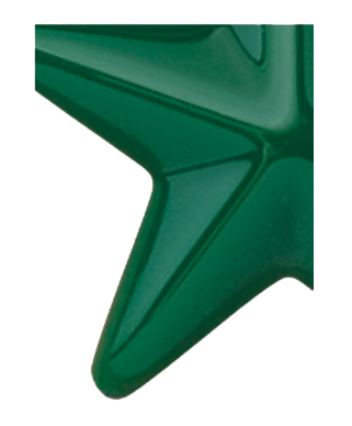 Image of Gemini formed plastic letter using Number 2030 Dark Green CAB Renewal Plastic.