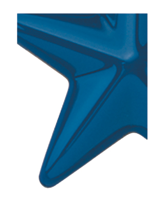 Image of Gemini formed plastic letter using Number 2050 Dark Blue CAB Renewal Plastic.
