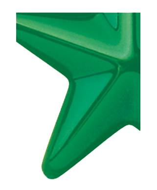 Image of Gemini formed plastic letter using Number 2108 Light Green CAB Renewal Plastic.