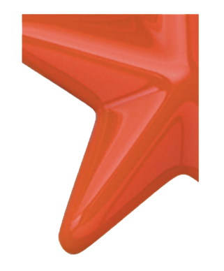 Image of Gemini formed plastic letter using Number 2119 Orange CAB Renewal Plastic.