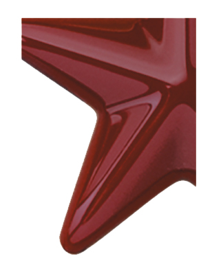 Image of Gemini formed plastic letter using Number 2240 Maroon CAB Renewal Plastic.