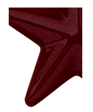 Image of Gemini formed plastic letter using Number 2280 Black Cherry CAB Renewal Plastic.