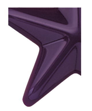 Image of Gemini formed plastic letter using Number 2287 Purple CAB Renewal Plastic.