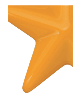 Image of Gemini formed plastic letter using Number 2540 Mango CAB Renewal Plastic.