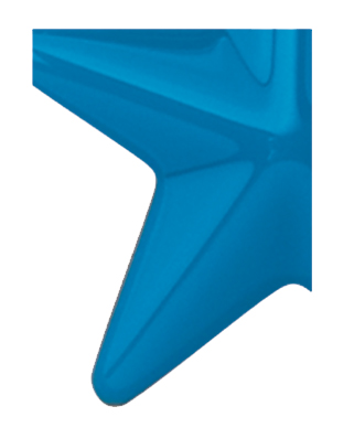 Image of Gemini formed plastic letter using Number 2648 Light Blue CAB Renewal Plastic.