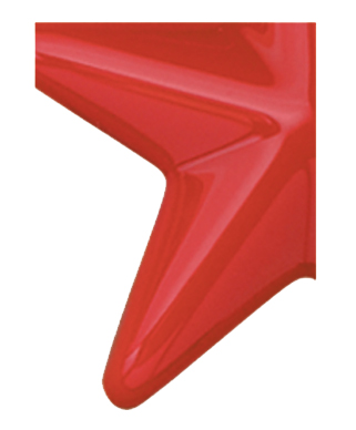 Image of Gemini formed plastic letter using Number 2662 Red Orange CAB Renewal Plastic.
