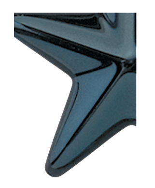 Image of Gemini formed plastic letter using Number 2767 Midnight Blue CAB Renewal Plastic.