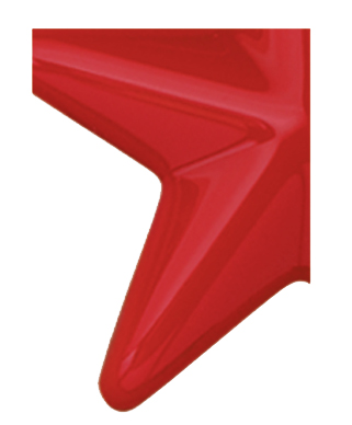 Image of Gemini formed plastic letter using Number 2793 Red CAB Renewal Plastic.