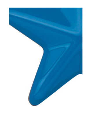 Image of Gemini formed plastic letter using Number 3000 Blue CAB Renewal Plastic.