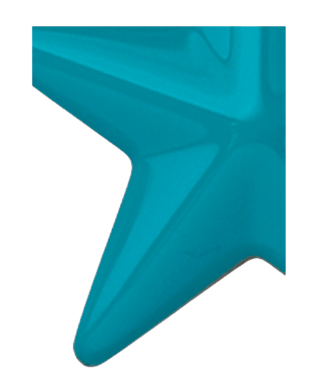 Image of Gemini formed plastic letter using Number 3210 Teal Blue CAB Renewal Plastic.