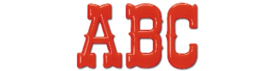 Image of our Barnum Classic font Formed Plastic Letter
