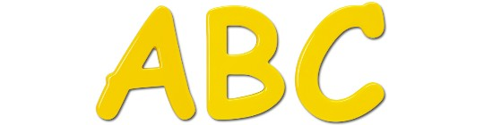 Image of our Comic Sans Bold font Formed Plastic Letter