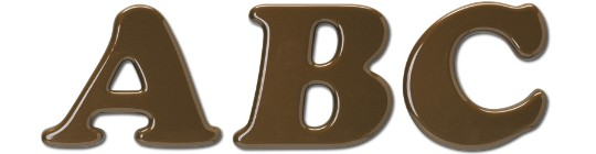 Image of our Cooper Black Italic font foam 3D Letters