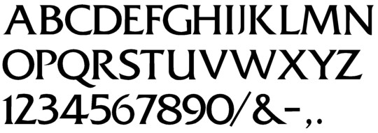 Image of our Fritz Quadrata font Formed Plastic Letter