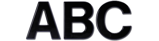 Image of our Helvetica font foam 3D Letters