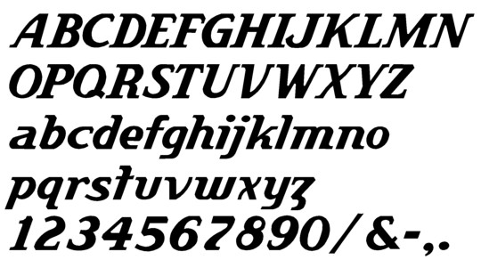 Image of our Herman Italic font Formed Plastic Letter