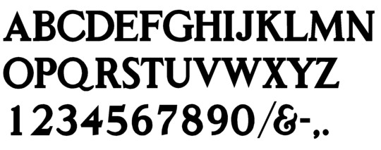 Image of our Roman Classic font Formed Plastic Letter
