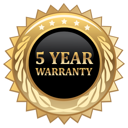 5 Year warranty on Gatorfoam painted Futura Condensed font style letters