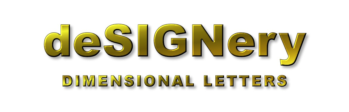dimensional letters logo