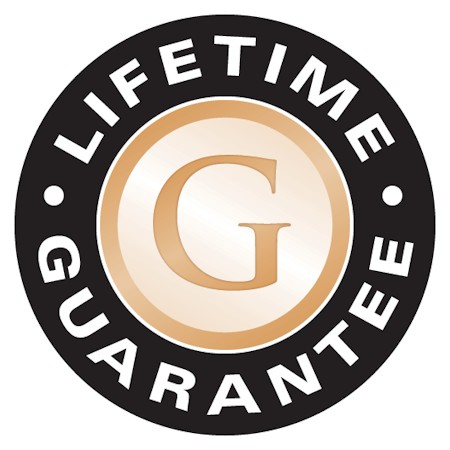 Lifetime warranty on Gemini Cooper Black font style dimensional letters with flat faces