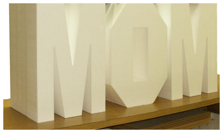 Images of our styrofoam letters