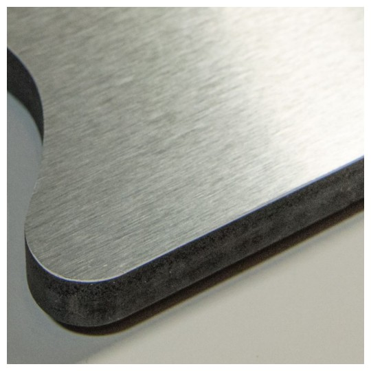 Image of our metal laminated pvc with wilsonart lamination
