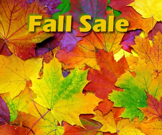 Fall Sale on all sizes and thicknesses of plastic and acrylic letters including 1/2 inch plexiglass wall graphics.